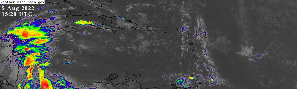 Caribbean Weather Map Live.Hurricane Sector Satellite Imagery