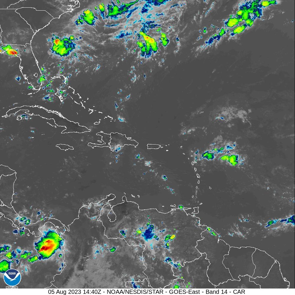 Image Satellite Caraïbes et Atlantique